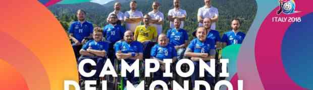 Gli azzurri del powerchair hockey si aggiudicano il titolo mondiale